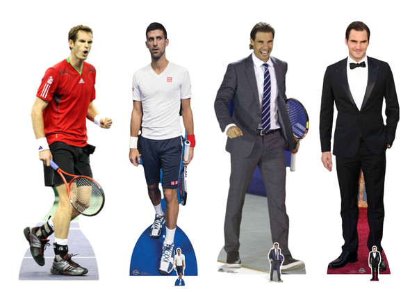 Tennis Champions Cardboard Cutouts Party Pack of 4 Standees