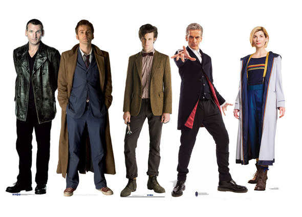 Doctor Who Lifesize Cardboard Cutouts Bumper Collection of 5