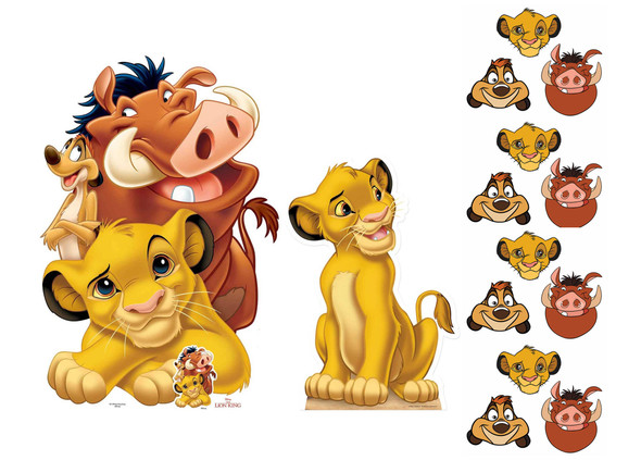 Lion King Cardboard Cutouts and Masks Party Pack