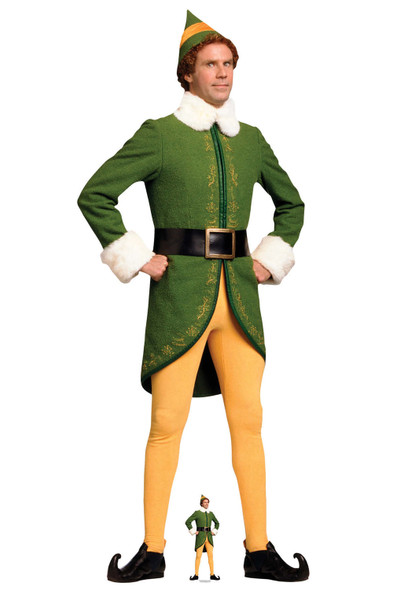 Buddy Hobbs from Elf Hands on Hips Lifesize and Mini Cardboard Cutout