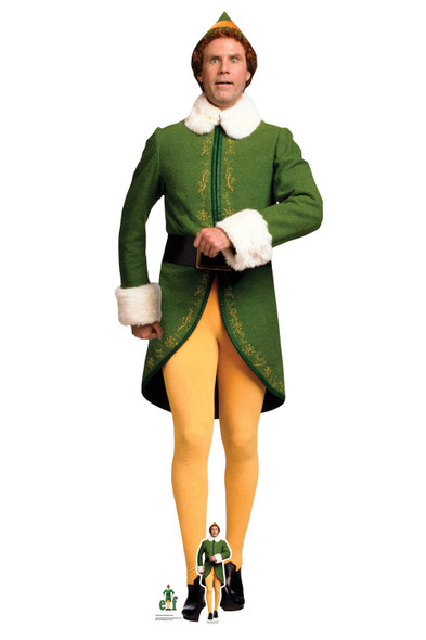 Buddy Hobbs from Elf Marching Lifesize and Mini Cardboard Cutout