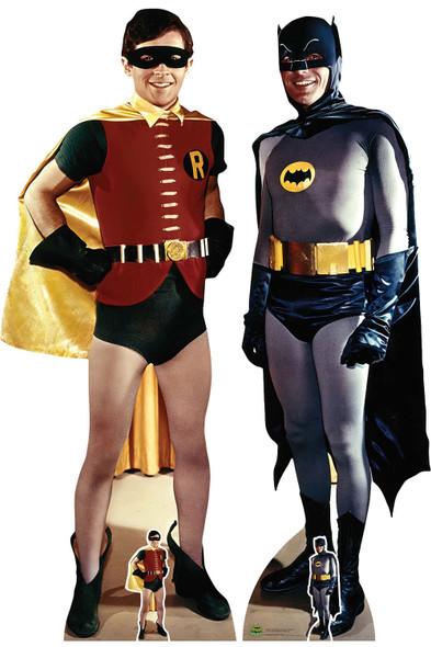 Batman and Robin 1966 Lifesize Cardboard Cutout Twin Pack - Adam West and Burt Ward