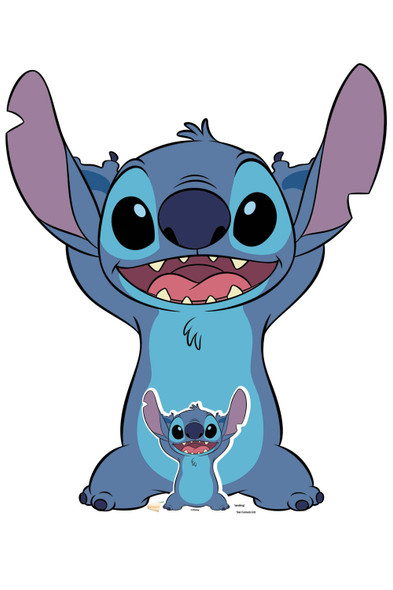 Stitch Standing from Lilo and Stitch Official Lifesize and Mini Cardboard Cutout