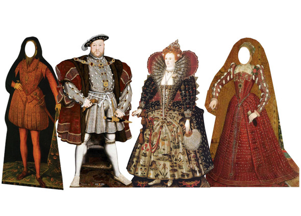 The Tudor Cardboard Cutout Collection of 4 Standups