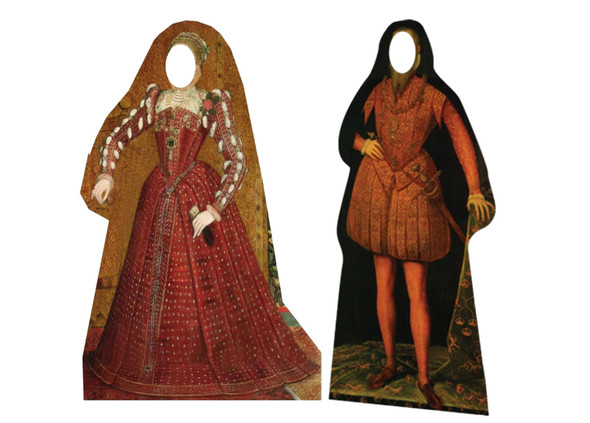The Tudor Man and Woman Stand in Cardboard Cutout Set of 2