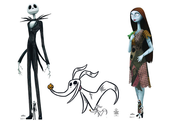 The Nightmare Before Christmas Cardboard Cutouts Set of 3