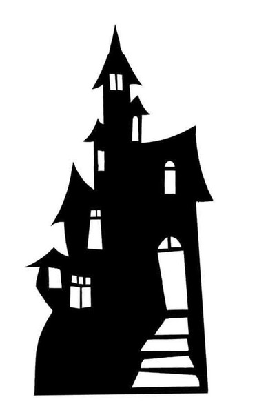 Haunted House Silhouette Cardboard Cutout