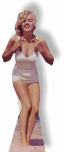 Marilyn Monroe - White Swimsuit - Lifesize Cardboard Cutout / Standee