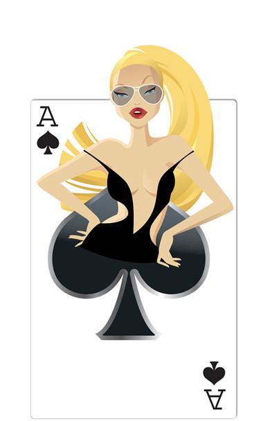 Spades Babe (Poker Night) - Lifesize Cardboard Cutout / Standee