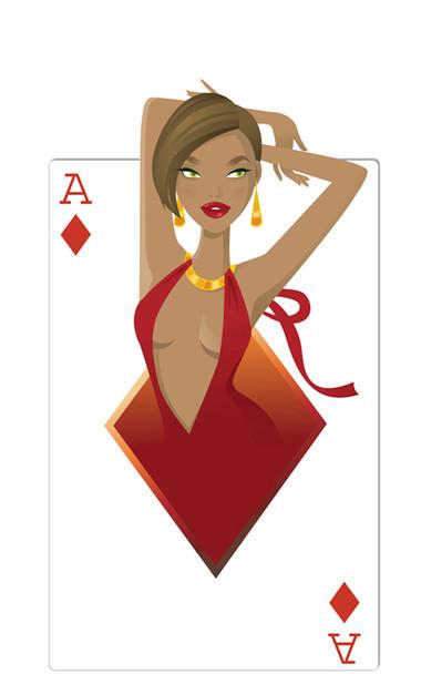 Diamonds Babe (Poker Night) - Lifesize Cardboard Cutout / Standee