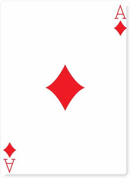 Ace Of Diamonds Cutout