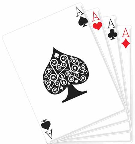 Hand of Cards (Poker Night) - Lifesize Cardboard Cutout / Standee