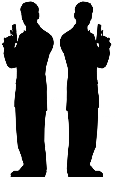 Secret Agent Male Double Pack (James Bond Style) - Lifesize Cardboard Cutout / Standee