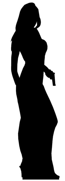 Secret Agent Girl Single Pack (James Bond Girl Style) - Lifesize Cardboard Cutout / Standee