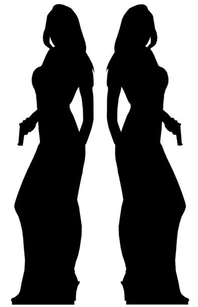 Secret Agent Girl Double Pack (James Bond Girl Style) - Lifesize Cardboard Cutout / Standee