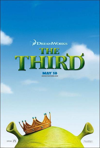 SHREK THE THIRD (DOUBLE SIDED Advance) (2007) ORIGINAL CINEMA POSTER