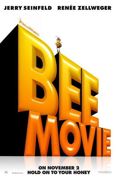 BEE MOVIE (DOUBLE SIDED Advance) (2007) ORIGINAL CINEMA POSTER