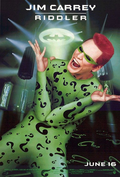 BATMAN FOREVER (Advance - Riddler) (1995) ORIGINAL CINEMA POSTER