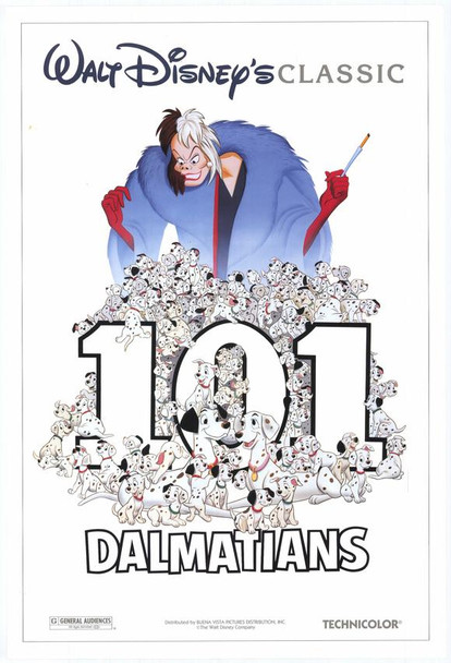 101 DALMATIANS (DOUBLE SIDED) (1996) ORIGINAL CINEMA POSTER