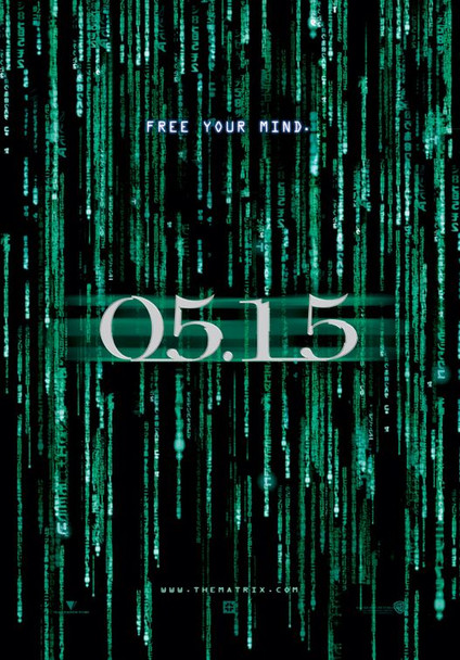 THE MATRIX RELOADED (SINGLE SIDED Advance 3-D Foil with date) (2003) ORIGINAL CINEMA POSTER