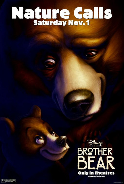 BROTHER BEAR (DOUBLE SIDED Advance) (2003) ORIGINAL CINEMA POSTER
