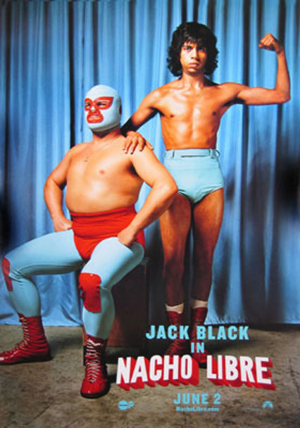 NACHO LIBRE (Double-sided Advance Two Guys) (2006) ORIGINAL CINEMA POSTER