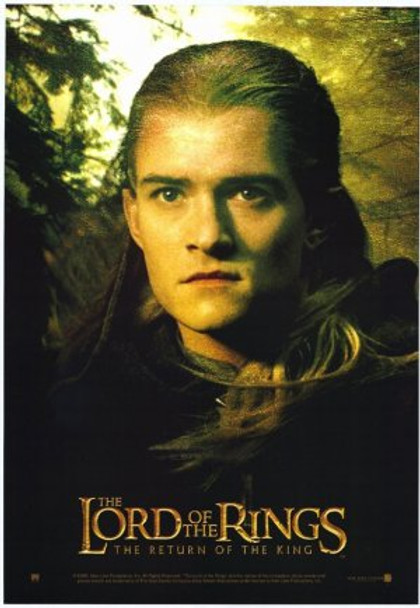 THE LORD OF THE RINGS: THE RETURN OF THE KING (Legolas - Single Sided Reprint) (2003) REPRINT CINEMA POSTER