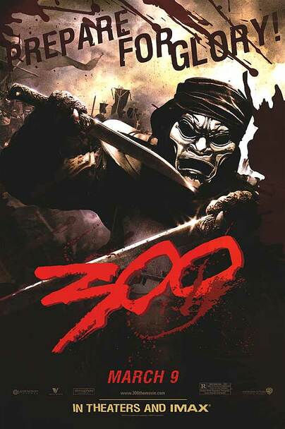 300 (SINGLE SIDED) (2006) ORIGINAL CINEMA POSTER
