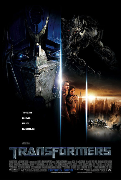Transformers Original Movie Poster Double Sided International One Sheet