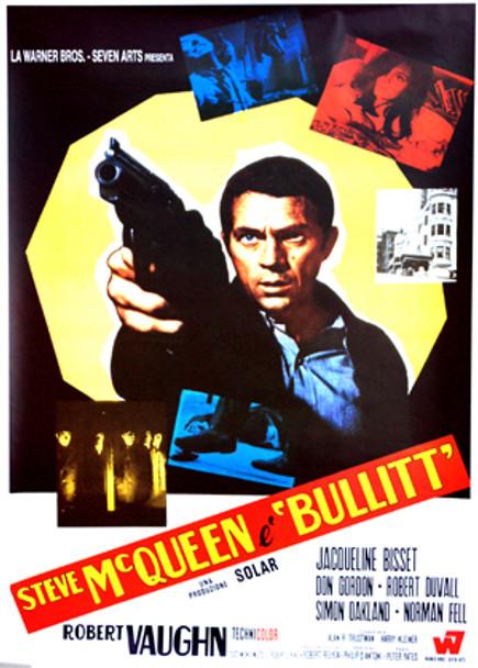 BULLITT (Italian Reprint) (1968) REPRINT CINEMA POSTER