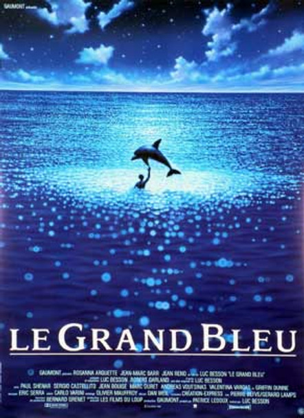 THE BIG BLUE (Single Sided French Reprint) (1988) REPRINT CINEMA POSTER