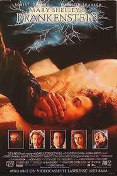 MARY SHELLEY'S FRANKENSTEIN (SINGLE SIDED Video) (1994) ORIGINAL CINEMA POSTER