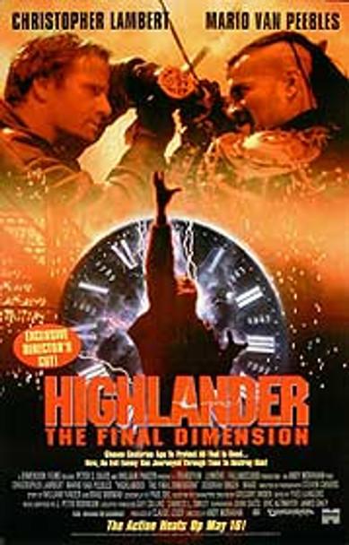 HIGHLANDER THE FINAL DIMENSION (Video) (1994) ORIGINAL CINEMA POSTER