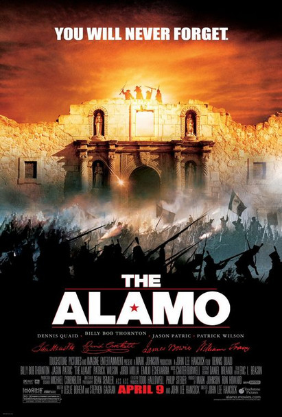 THE ALAMO (DOUBLE SIDED Regular UV Coated) (2004) ORIGINAL CINEMA POSTER