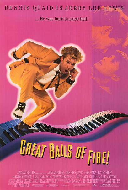 GREAT BALLS OF FIRE (1989) ORIGINAL CINEMA POSTER