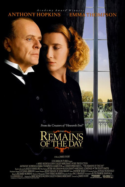 THE REMAINS OF THE DAY (DOUBLE SIDED Regular) (1993) ORIGINAL CINEMA POSTER