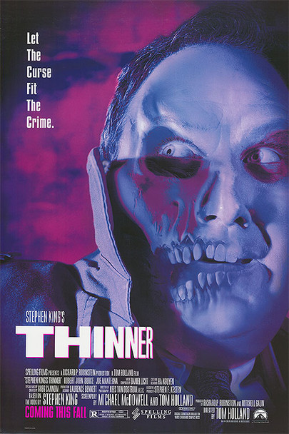 THINNER (1996) ORIGINAL CINEMA POSTER