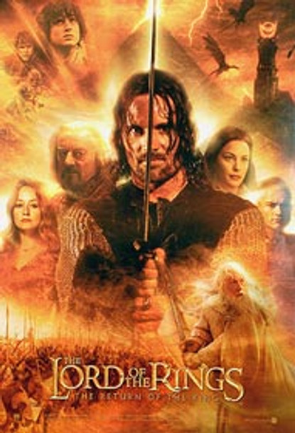 THE LORD OF THE RINGS: THE RETURN OF THE KING (Hero's Reprint) (2003) REPRINT CINEMA POSTER