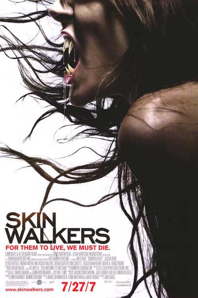 SKINWALKERS (DOUBLE SIDED Regular) (2006) ORIGINAL CINEMA POSTER