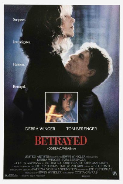 BETRAYED (1988) ORIGINAL CINEMA POSTER