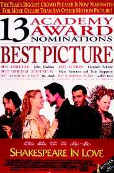 SHAKESPEARE IN LOVE (Style B) (1998) ORIGINAL CINEMA POSTER