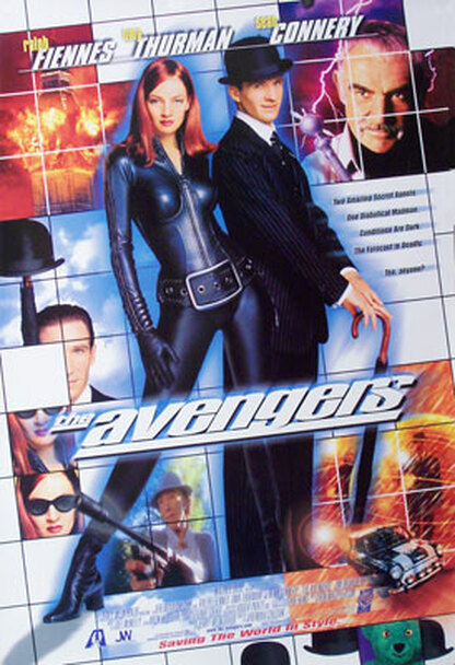 THE AVENGERS (SINGLE SIDED International) (1998) ORIGINAL CINEMA POSTER