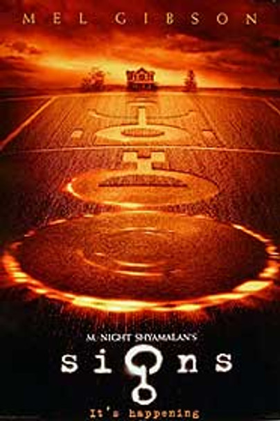 SIGNS (Advance DOUBLE SIDED) (UV COATED/HIGH GLOSS) (2002) ORIGINAL CINEMA POSTER