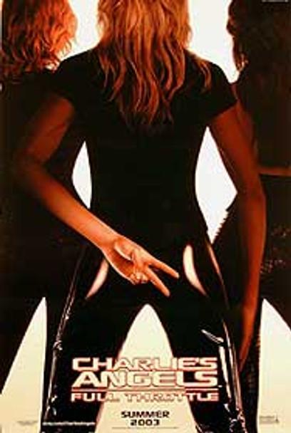 CHARLIE'S ANGELS: FULL THROTTLE (DOUBLE SIDED Advance UV Coated) (2003) ORIGINAL CINEMA POSTER