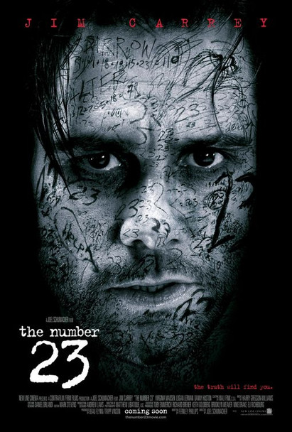 THE NUMBER 23 (DOUBLE SIDED Regular) (2007) ORIGINAL CINEMA POSTER