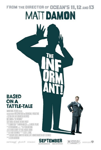 THE INFORMANT!  double sided US ONE SHEET (2009) ORIGINAL CINEMA POSTER