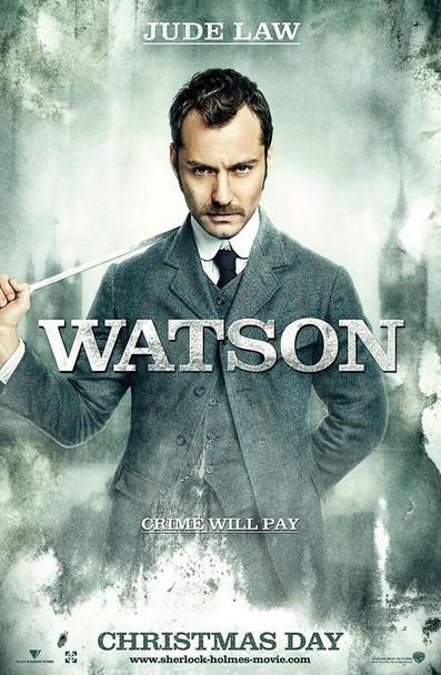SHERLOCK HOLMES  - WATSON poster double sided ADVANCE US ONE SHEET (2009) ORIGINAL CINEMA POSTER