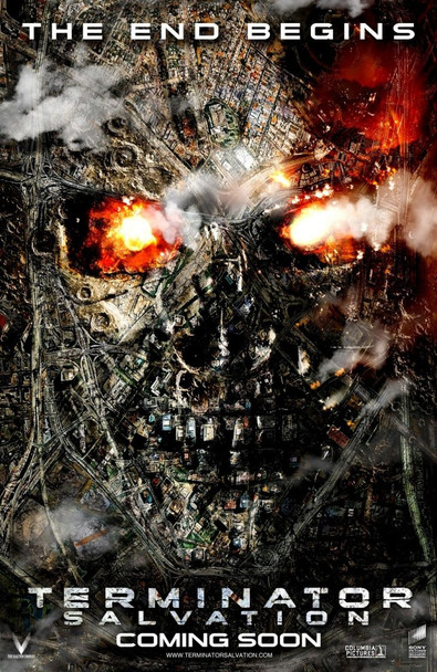 TERMINATOR: SALVATION (TERMINATOR 4) - THE END BEGINS - double sided ADVANCE US ONE SHEET (2009) ORIGINAL CINEMA POSTER