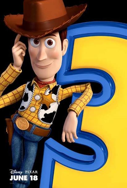 TOY STORY 3  (Disney, Pixar) - RARE WOODY double sided ADVANCE US ONE SHEET (2010) ORIGINAL CINEMA POSTER