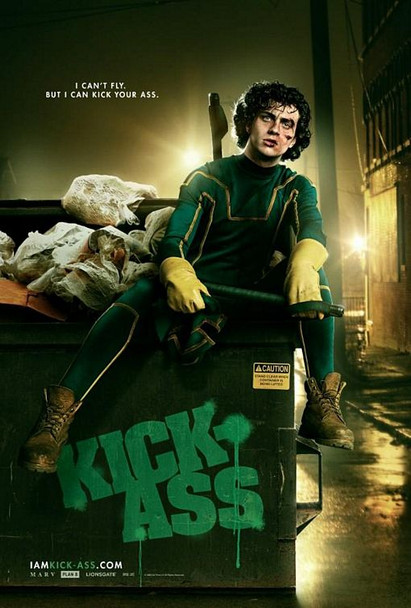 KICK-ASS Poster - (Aaron Johnson) double sided ADVANCE US ONE SHEET (2010) ORIGINAL CINEMA POSTER